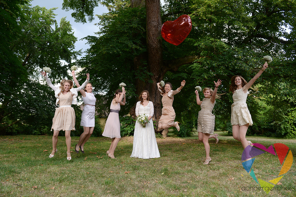 bridesmaids jump fun