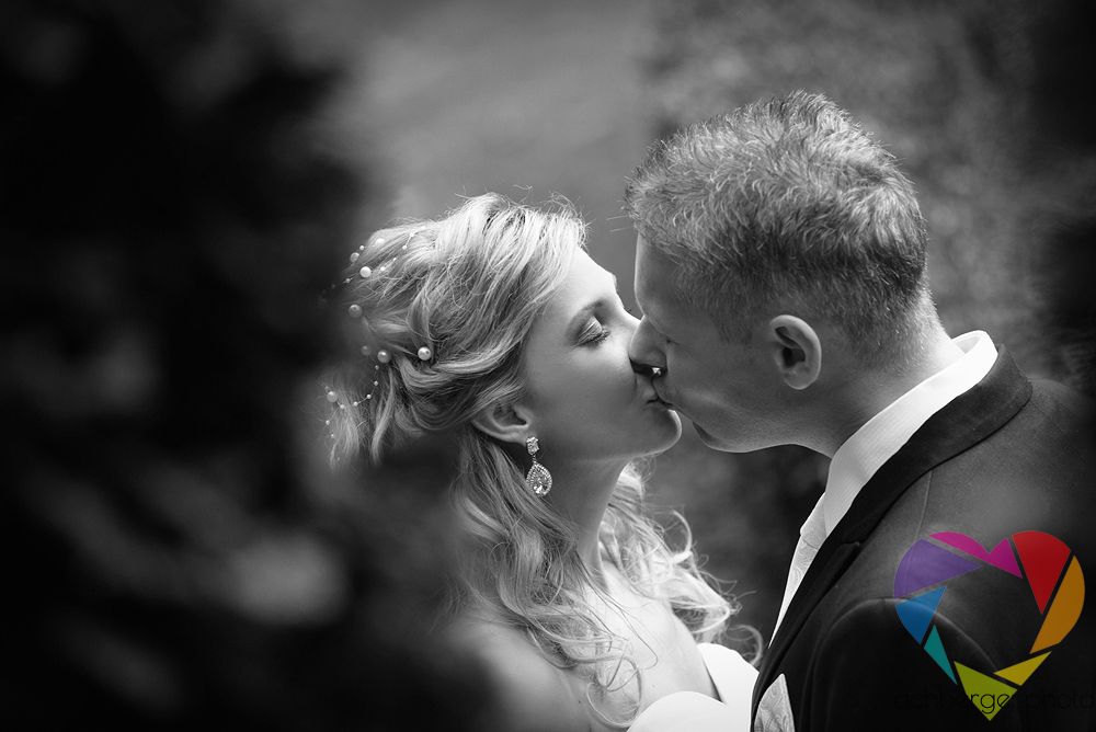 wedding kiss couple
