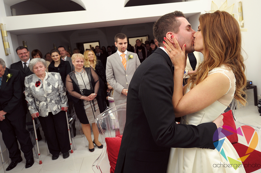 wedding kiss first